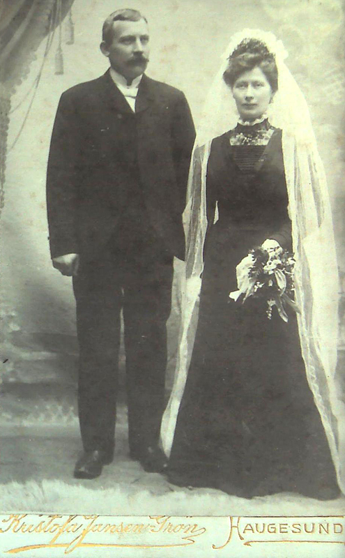 Amund Pedersen Indbjo och Olava Severine Pedersdatter Kvalevåg