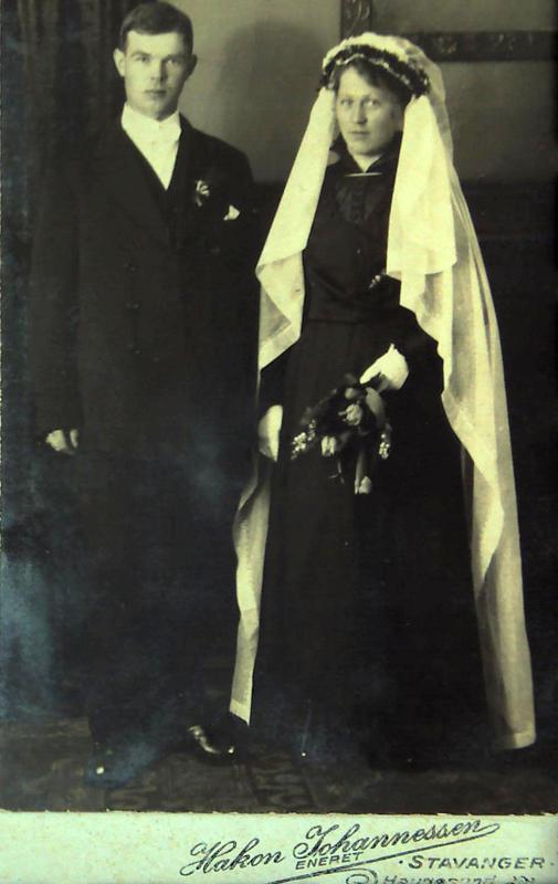 Thor Thorsen Aksdal och Laura Amalie Pedersdatter